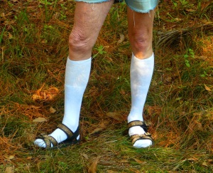 socks in sandals
