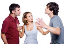 Men fighting over chick