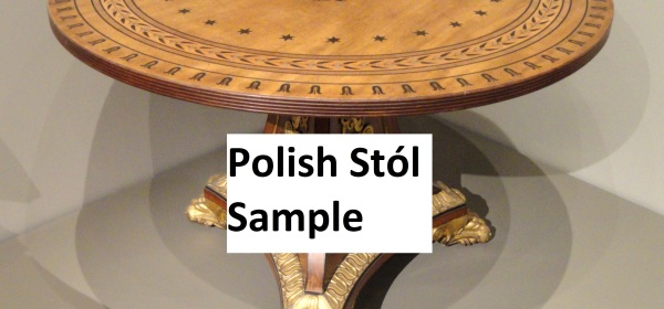 Polish Stól Sample