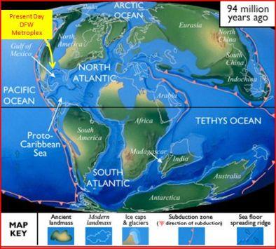 Cretacious Period map