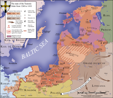Europe 1400s map