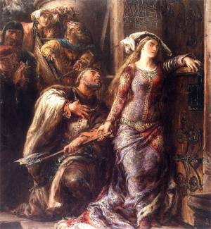Jadwiga supposedly tried to break through Wawel's gates with an ax to escape with her prince.